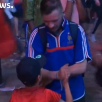 This lovely video of a little Portugal supporter consoling a French fan is going viral