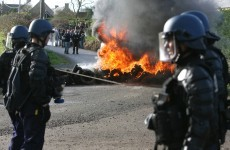 In pictures: French riot police clash with anti-nuclear group