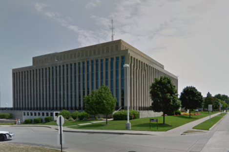 The courthouse in St. Joseph, Michigan, about 100 miles north of Chicago.