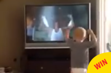 Everyone's loving this toddler perfectly copying Rocky's epic training montage