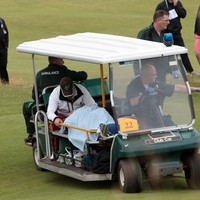 Caddie in hospital after being hit on head by Vijay Singh's tee-shot at the Open