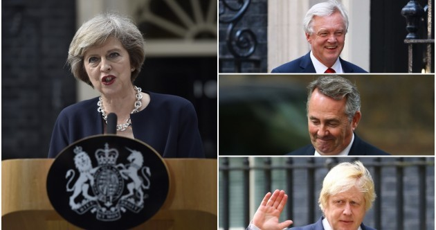 Two high-profile Brexit positions created as part of new British cabinet