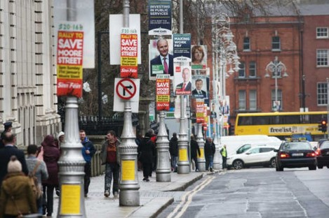 Election posters in Dublin.
