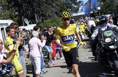 Fan video shows Chris Froome dragging his broken bike up the side of Mont Ventoux