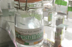This shop is selling jars of Galway air for a fiver a pop