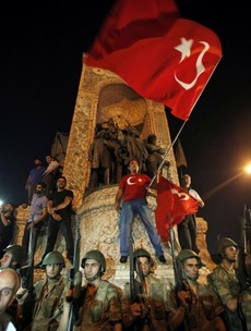 Why is there a coup happening in Turkey?