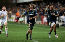 Chiefs 10 Cruden forced to celebrate after brilliant Highlanders try