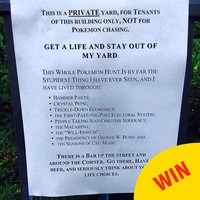 This guy wrote the best sign to stop people playing Pokémon Go in his garden
