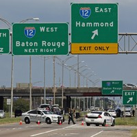 Three police officers shot dead and three others injured by gunmen in Louisiana