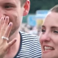 An Irish lad proposed to his girlfriend at The National with a tinfoil ring, and it was adorable