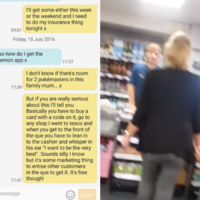 This guy tricked his mam into thinking she had to go to Tesco to buy Pokémon Go