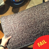 This woman ordered a doormat online and it certainly didn't meet her expectations