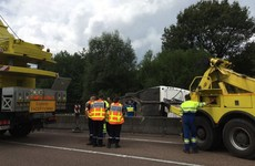 15 people injured as bus carrying teenagers crashes in France