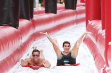 There's a massive 260-foot-long water slide in Dublin city centre