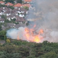 Firefighters tackling blaze at Bray Head