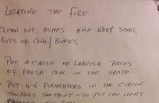 This Irish dad's instructions for lighting a fire are just wonderful