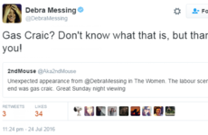 Debra Messing was baffled by the phrase 'gas craic', so Twitter helped her out