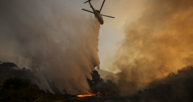 Photos: Raging wildfire engulfs California homes and film set