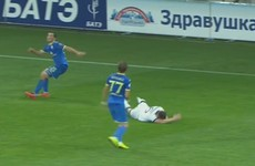 Should Dundalk's opponents have been reduced to 10 men for this apparent elbow?