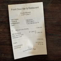 Spare a thought for the Galway Races punter who woke up to his bar receipt this morning...