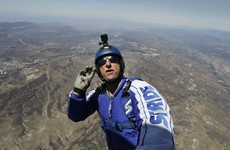 This man will be doing a skydive without a parachute on live TV