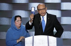Watch: An emotional father of a dead soldier calling out Trump and stealing the show at the DNC