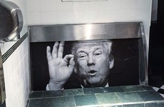 A pub in Dublin has transformed its urinal to include Donald Trump's face