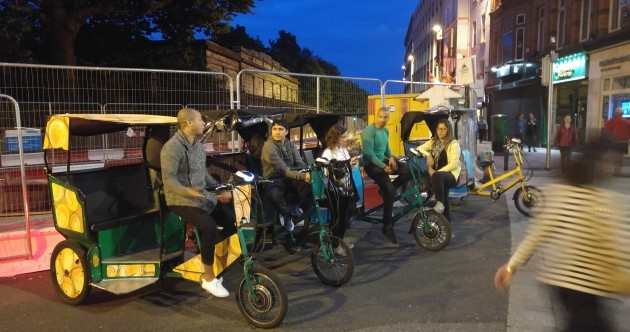 Who are the people riding Dublin's rickshaws?