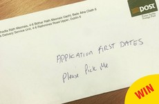 This application for First Dates Ireland actually made it to its destination