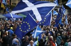 Scottish independence campaigners march for a second referendum after Brexit result