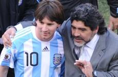 'Lionel Messi lacking Diego Maradona's personality'