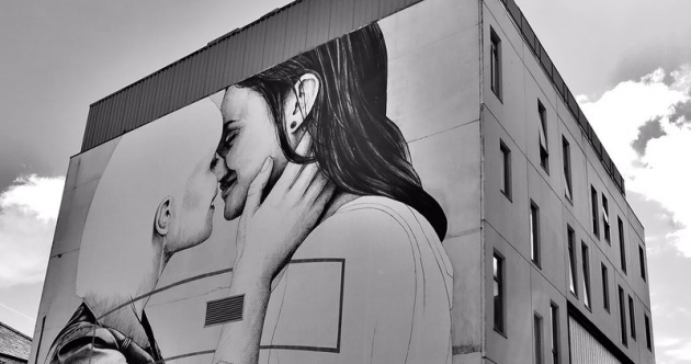 The artist behind Dublin's marriage equality mural is back with a powerful piece for Belfast Pride