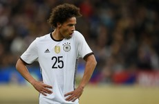 Leroy Sane in Manchester as he prepares to seal €53 million City move