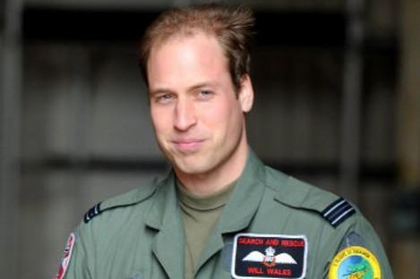 Prince William in uniform.