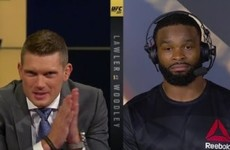 New champ Woodley ruthlessly dismissed Wonderboy's request for a title shot