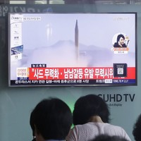 North Korea launched a missile that landed 250km off the coast of Japan