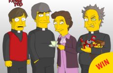Someone has made the cast of Father Ted into Simpsons characters