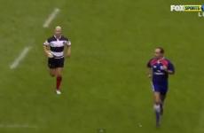 WATCH: Peter Stringer intercepts James O'Connor's conversion attempt