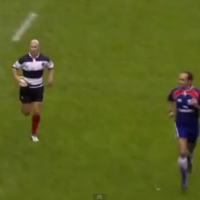 WATCH: Peter Stringer intercepts James O'Connor's conversion attempt