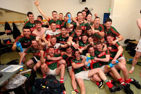 The Mayo U21's celebrating last April's All-Ireland final win.