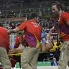 Horrific scenes as French gymnastics' main medal hope suffers gruesome leg break