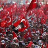 Nearly a million people gather to support Turkish leader after failed coup