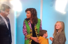 This little kid was so done with Ireland AM's fashion segment this morning