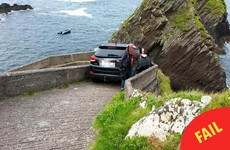 This genius actually tried to drive down Kerry's famous Sheep Highway