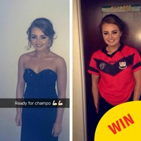 This girl in Laois left her Debs to play a GAA match and returned later that night
