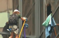 Man attempts to scale New York's Trump Tower with suction cups
