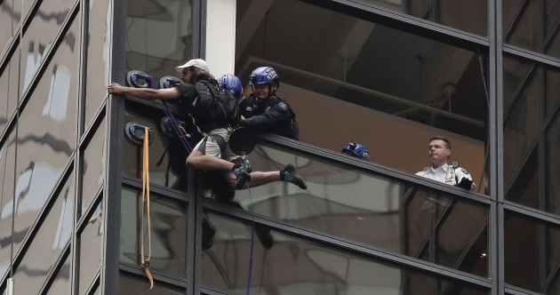 Dramatic footage shows man who climbed Trump Tower being hauled in window