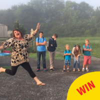 A mam's celebratory back-to-school photos are going super viral on Facebook