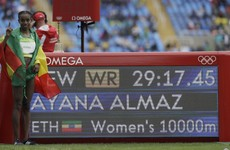Women's 10,000m record smashed by almost 14 seconds as Almaz takes gold