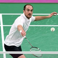Scott Evans battles from a set down to become first Irishman to win an Olympic badminton match